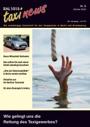 RAL 1015 taxi news Heft 8-2015