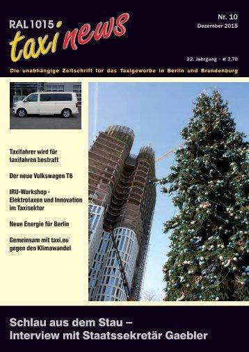 RAL 1015 taxi news Heft 10-2015
