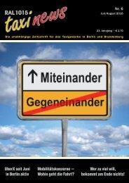 RAL 1015 taxi news Heft 6-2016