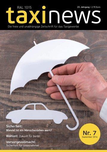 RAL 1015 taxi news Heft 7-2016