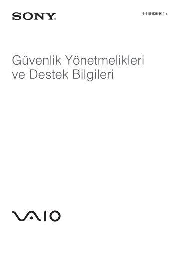 Sony VPCF24N1E - VPCF24N1E Documents de garantie Turc