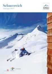 Winter- und Sommermagazin 2016/17 Damüls Faschina
