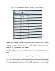 Seven Common Questions about Venetian Blinds Answered