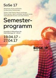 BOSKOP Semesterprogramm-Sommer 2017