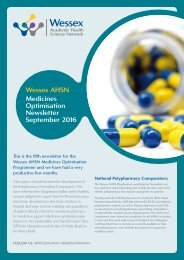 Wessex AHSN Medicines Optimisation Newsletter September 2016