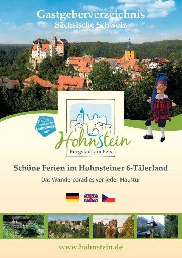 Gastgeberverzeichnis Hohnstein