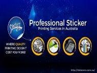 Professional Sticker Printing Services in Australia