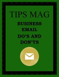 TIPS MAG- Business Email Do's and Don'ts