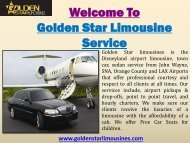 Limo service in Orange County , Southern California|Golden Star Limousine