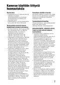 Sony SLT-A65VL - SLT-A65VL Consignes d'utilisation Finlandais - Page 7
