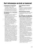 Sony SLT-A65VL - SLT-A65VL Consignes d'utilisation Norvégien - Page 7