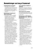 Sony SLT-A65VL - SLT-A65VL Consignes d'utilisation Danois - Page 7