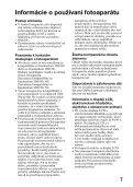 Sony SLT-A65VL - SLT-A65VL Consignes d'utilisation Slovaque - Page 7