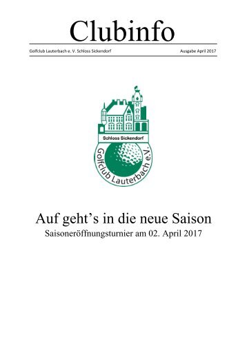 Clubinfo April 2017