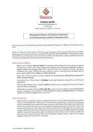 Etexco Report of the board meeting EN