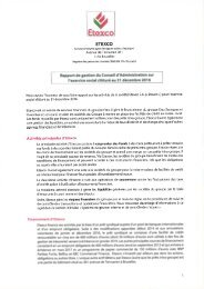 Etexco Report of the board meeting FR
