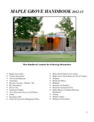 maple grove handbook 2012-13 - Maple Grove Elementary School
