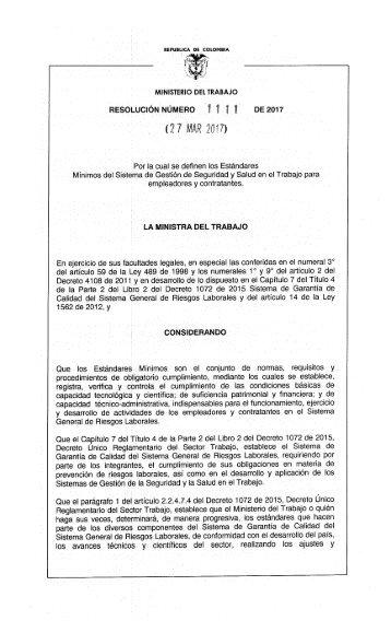Res 1111-20170329 Estandares minimos