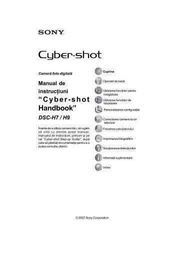 Sony DSC-H7 - DSC-H7 Mode d'emploi Roumain