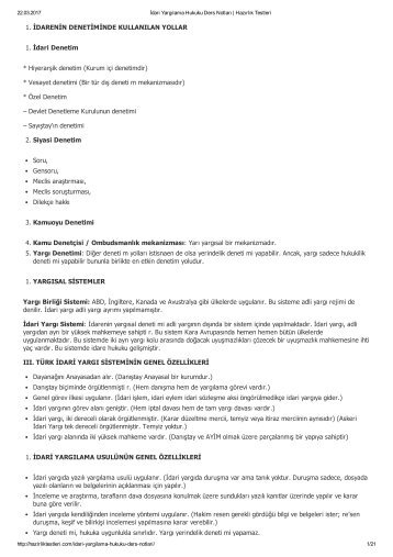 dari Yargılama Hukuku Ders Notları _ Hazırlık Testleri
