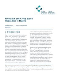 Federalism and Group-Based Inequalities in Nigeria