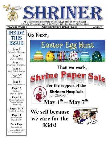 SHRINER APRIL 2017