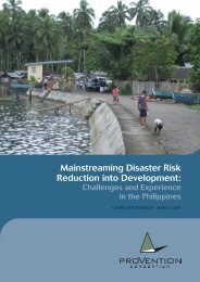 Mainstreaming Disaster Risk Reduction into Development: - IPCC