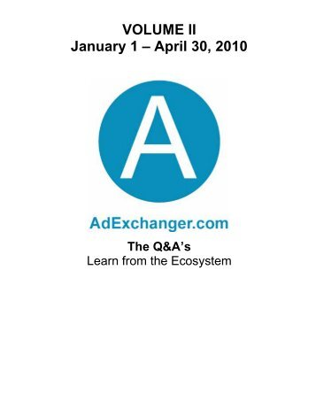 AdExchanger.com January-April 2010 Q&A Report – Smallest