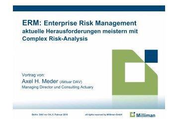 ERM: Enterprise Risk Management - qx-Club Berlin