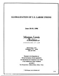 Globalization of U.S. Labor Unions - Morgan, Lewis & Bockius