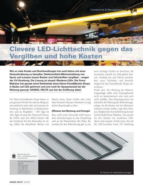 LED Bericht aus Handel Heute April / Mai 2012 - mabalux