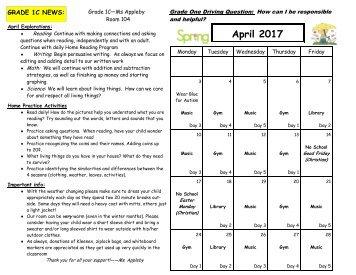 April 2017 Calendar and Curriculum Expectations (1)