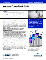 Measuring Ammonia with Radar - Emerson Process Management