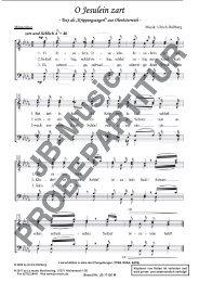 O Jesulein zart (Weihnachtslied) für TTBB, SSAA, SATB