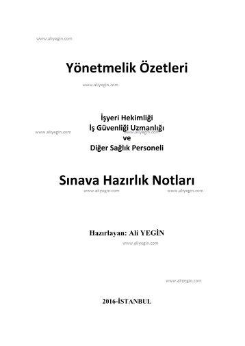 6331 Yeni Yonetmelik Ozetleri ve Hap Bilgiler_Ver.3_Ali YEGIN (1)