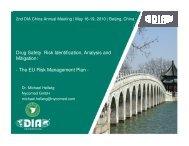 Part I (ICH E2E) - Drug Information Association