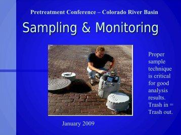 Sampling & Monitoring - State Water Resources Control Board