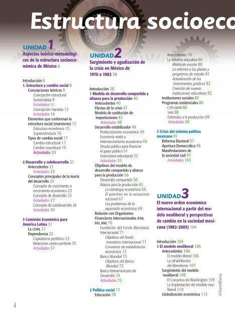 Estructura Socioeco 4 Uni