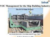 VOC Management for the Ship Building Industry - wondermar ii