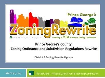Zoning Ordinance and Subdivision Regulations Rewrite