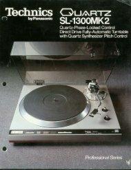 Technics SL-1300MK2 Advertising Cut Sheet