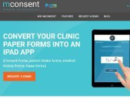 iPad Software for Medical Patient Intake - mConsent