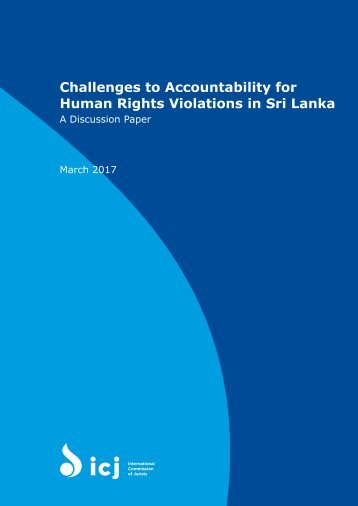 Challenges to Accountability for Human Rights Violations in Sri Lanka