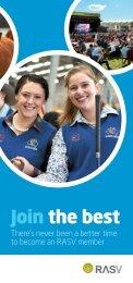 2017/18 RASV Membership Brochure