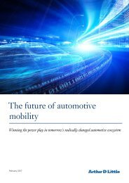 The future of automotive mobility