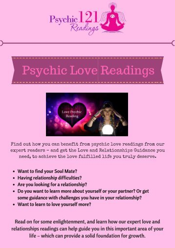 Psychic Love Readings at Psychic 121 Readings
