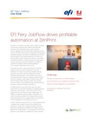 EFI Fiery JobFlow drives profitable automation at ZenPrint