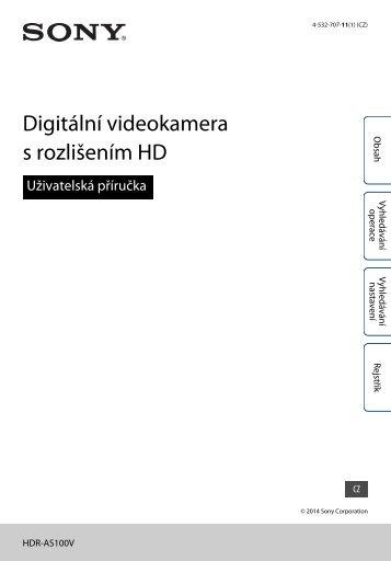 Sony HDR-AS100VB - HDR-AS100VB Guide pratique Tchèque