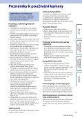 Sony HDR-AS100VB - HDR-AS100VB Guide pratique Tchèque - Page 3