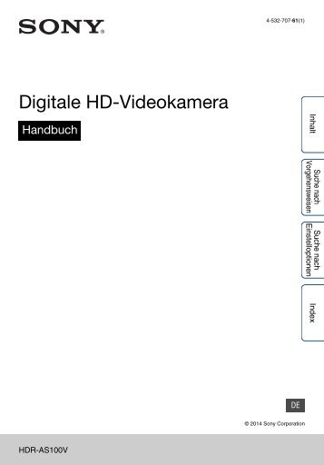 Sony HDR-AS100VB - HDR-AS100VB Guide pratique Allemand